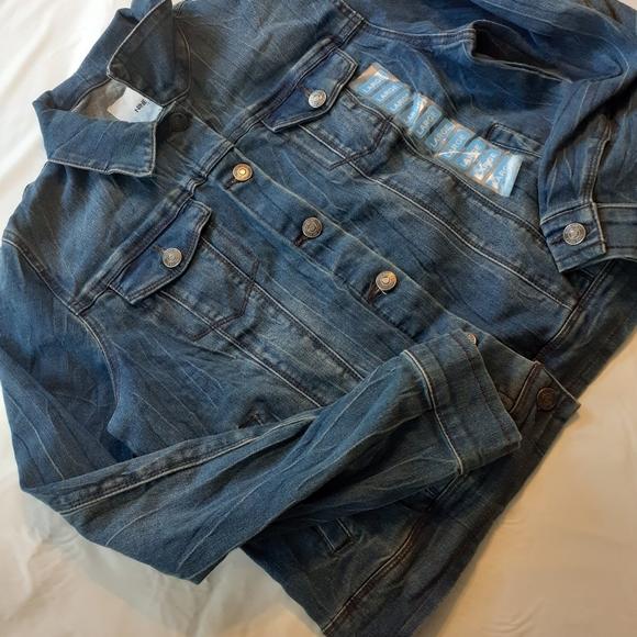 New cropped women's denim large jacket nine west